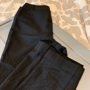 Ann Taylor Black pin stripe dress pants 8P